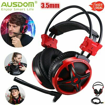 3.5mm USB Wired Surround Stereo Gaming Headset Headphone W/ Mic for PC Gamer PS4