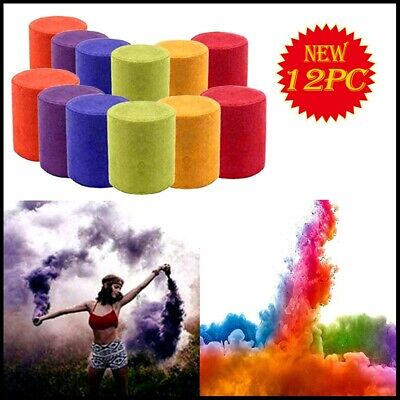 12pcs Smoke Cake Colorful Effect Show Round Toy Bomb Stage Nice Photography Aid