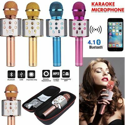 Childrens Wireless Karaoke Microphone Portable Bluetooth KTV Mic Speaker Machine