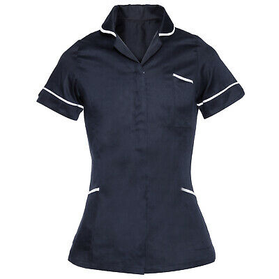Health Healthcare Nurses Doctors Vet Therapist Massage Tunic Uniform Navy
