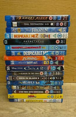 Collection of 3D Blu-Ray-DVD Movies Films Job Lot Bundle Various Titles