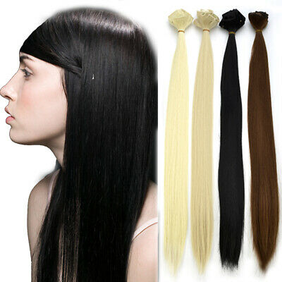 24 inch FULL HEAD CLIP IN HAIR EXTENSIONS pieces LONG STRAIGHT set 150g