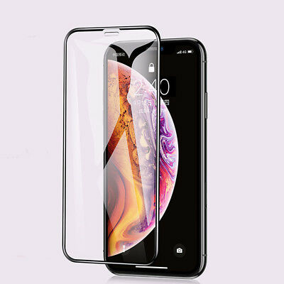 6D Tempered Glass Screen Protector Film HD Full Cover For iPhone X XR Xs Max -