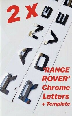 Individual Chrome Letters Lettering Front Rear Boot Rover Range Sport Vogue