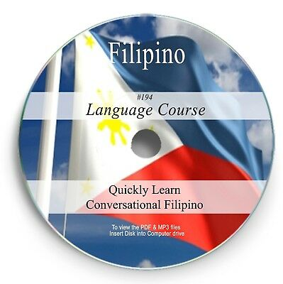 194 Filipino Tagalog Language Learn Speak Course Learning Study Audio MP3 PDF CD