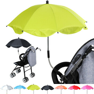 Baby Pram Umbrella Parasol for Stroller and Pushchair Fixing Clamp Sunshade