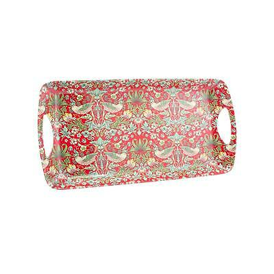 William Morris Strawberry Thief Red Serving Food Drinks Tray