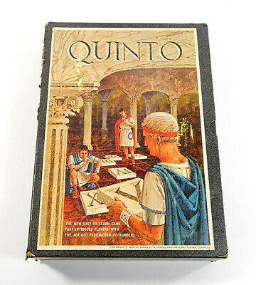 Vintage 1964 Quinto Board Game By 3M In Original Box