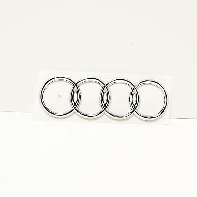 Audi A3 8L1 Rear Tailgate Trunk Lid Rings Emblem Badge 8D98537422ZZ NEW GENUINE