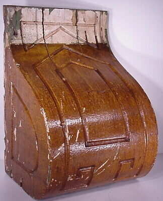 Antique Sconce Hand Carved Architectural Wood Bracket Art Deco Corbel Pediment