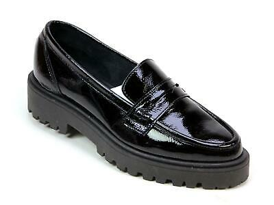 SCHUH COMPASS BLACK PATENT LEATHER SCHOOL WORK TASSEL FRINGE SHOES SIZES 3-8