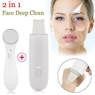 Facial Ultrasonic Portable Ultrasound Ion Skin Scrubber Care Peeling Device Gift