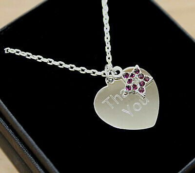 Womens Girls Necklace Pendant Free Engraving Purple Star Personalised Gift Boxed