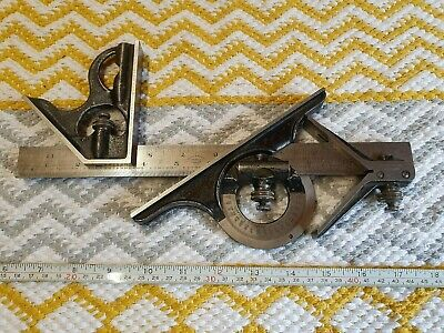 Vintage Moore & Wright Combination Square in Very Good Condition For Age