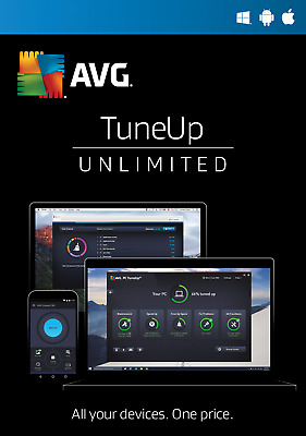 AVG Tuneup 2019 Unlimited Devices (1) year Worldwide GENUINE Lisence & DOWNLOAD