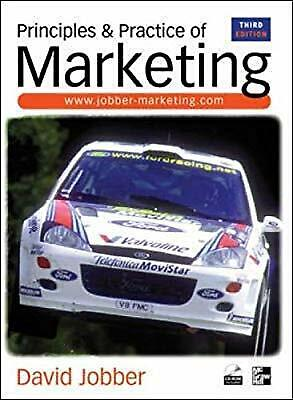 Principles and Practice of Marketing, 3rd Ed., Jobber, David, Used; Good Book