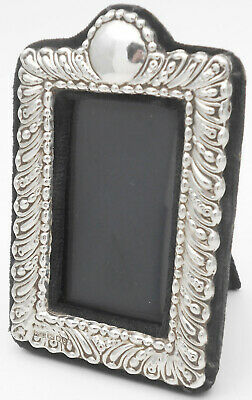 Sterling Silver Small Easel Backed Photo Frame - London 1990