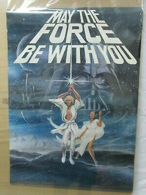 May The Force Be With You Star Wars Movie Vintage Poster Garage 1977  Cng25