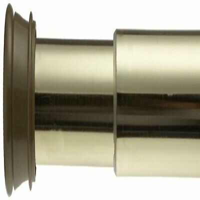 Carnation Home Shower Stall-Sized Steel Shower Curtain Tension Rod in Brass