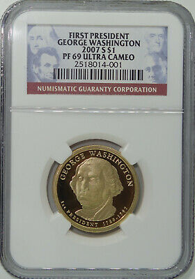 2007 S 1st President George Washington $1 Proof Coin / NGC PF69 Ultra Cameo