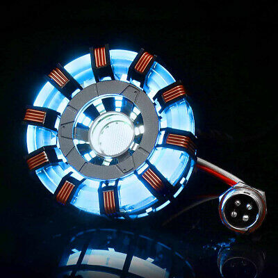 Light Powered ARC Reactor Men Heart DIY Kit Model LED Chest USB Movie Model Lamp