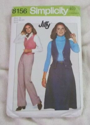 Sewing Pattern - 8156  Simplicity  - Misses Skirt, Trousers & Waistcoat - 14