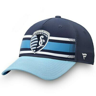 a3873987235cf2 Fanatics Branded Sporting Kansas City Navy/Sky Blue Iconic Adjustable Hat