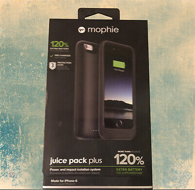 MOPHIE JUICE PACK AIR FOR iPHONE 6S 6 BLACK 3300mAh 120% RECHARGEABLE CASE PU922
