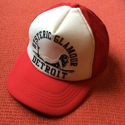 44b93c17 Hysteric Glamour Red & White Print Detroit Lady Truck Hat Made In Japan  Supreme