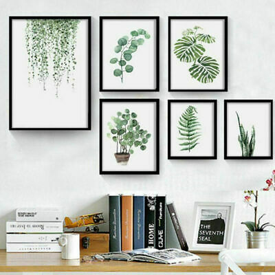 Nordic Wall Art Green Plant Canvas Poster Print Painting Home Living Room Decor