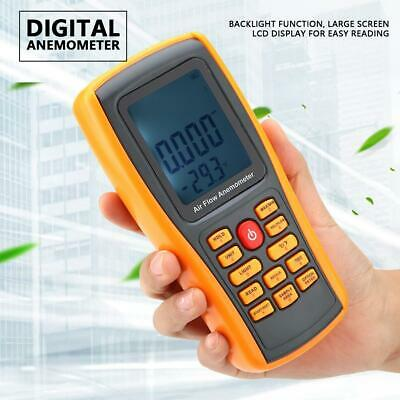 NEW GM8902+ LCD Display Digital Anemometer Wind Speed Meter Thermometer
