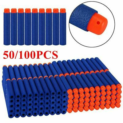 1-100 NERF Gun Darts Bullets Refill Soft Toy Elite N -Strike Round Head Blast UK