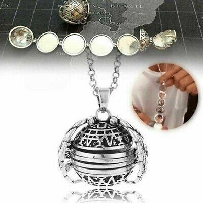 Expanding Photo Locket Necklace Silver Ball Angel Wing Pendant Key chain Gifts