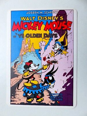 MICKEY MOUSE  Walt Disney's - french postcard 80s as new cp années 80'