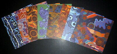 "ABORIGINAL DESIGN 180gsm Scrapbooking/Cardmaking Papers  x 8~ 15cmx15cm( 6""X6"")"