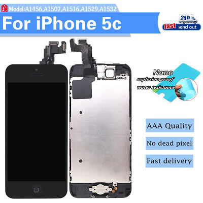 LCD For iPhone5C Replacement Touch Display Screen with Camera+Home Button Black
