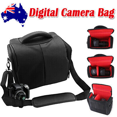 SLR DSLR Lens Camera Bag Carry Case For Nikon Canon EOS Sony Olympus Cover Black