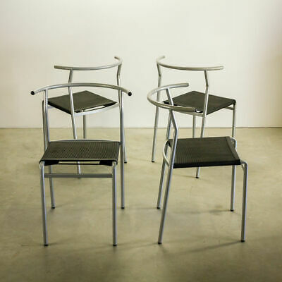 4 Vintage BaIeri Italia Philippe Starck Cafe Costes stacking chairs 80s