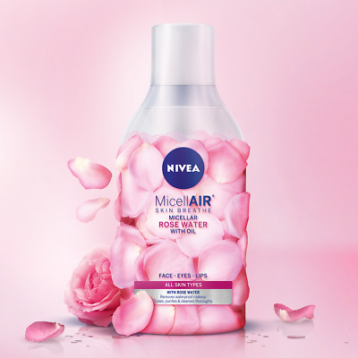 NEW Nivea MicellAir Skin Breathe Micellar Rose Water (400ml/13.5oz)