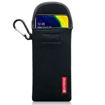 Shocksock Neoprene Pouch Case with Carabiner for Samsung Galaxy A80 - Black