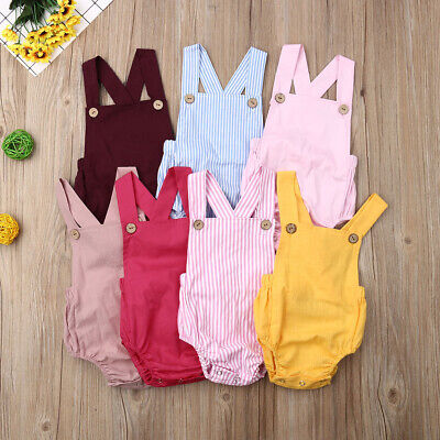 Baby Kids Boy Girl Infant Romper Jumpsuit Bodysuit Cotton Clothes Outfits Set