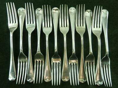 12 Vintage EPNS Silver plated Old English Dessert Side forks mixed makers