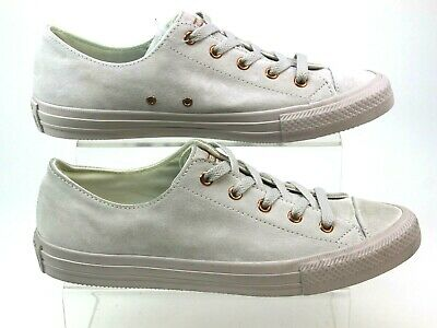 6dea02652aa Womens Converse All Star Gemma Low Grey Suede Almond Pumps Trainers Size 6  Faded
