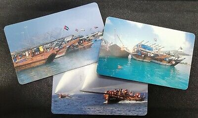 3 United Arab Emirates Phone Card Traditional Dhows Fishing Boats Heritage Race