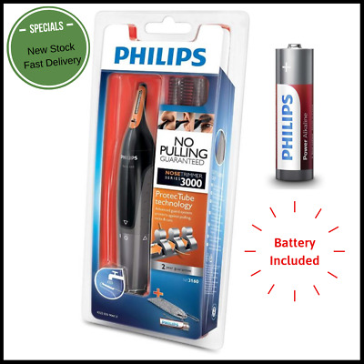 Philips Series 3000 Nose Trimmer NT3160/10 - Ear-Nose-Eyebrows-BATTERY INCLUDED