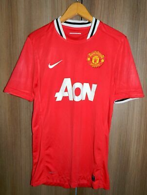 e05ef69c831 NIKE DRI-FIT MANCHESTER United 2011-2012 Aon Third Blue/Black Jersey ...