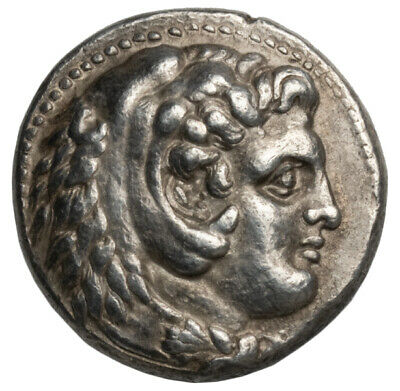 ANCIENT GREEK - KINGDOM OF MACEDON, Alexander III. Silver Tetradrachm Coin RARE