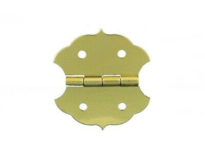 100 Small Brass Plated Butterfly Hinges with Matching Screws
