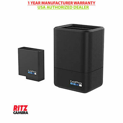 GoPro Dual Battery Charger + Battery for HERO7/6/5 Black & Hero 2018