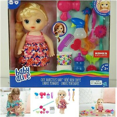 New Baby Alive Blonde Cute Hairstyles Baby Doll Playset Girl